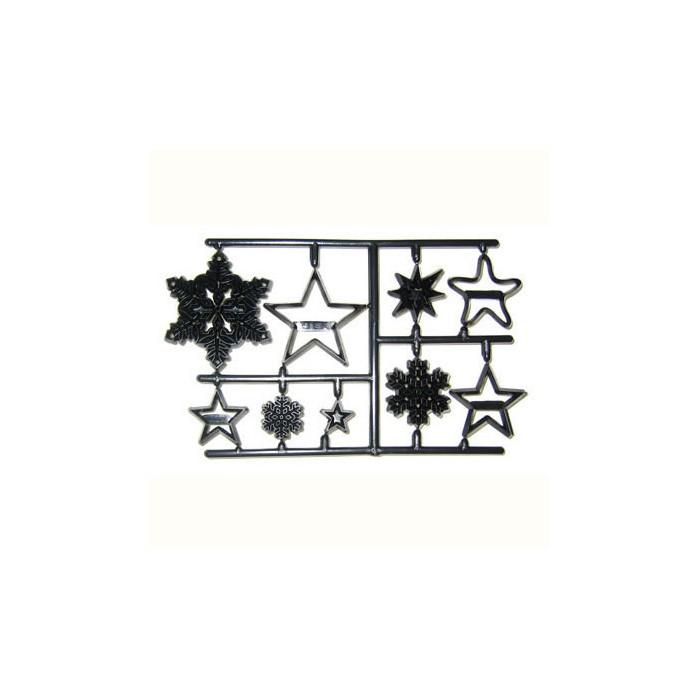 Marcador patchwork copos nieve y estrellas