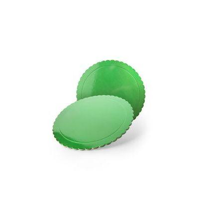 Base redonda verde 25 cms., grosor 3 mm