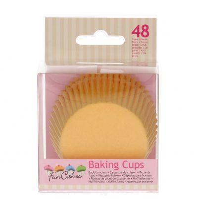 Cápsulas para hornear amarillo - Funcakes