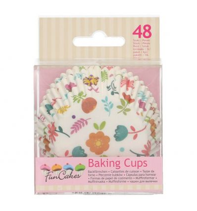Cápsulas para hornear florales - Funcakes