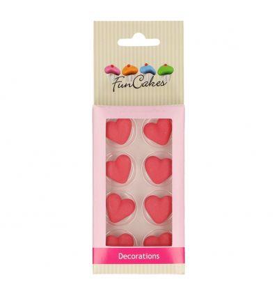 Pack de 8 corazones de azucar comestible - Funcakes