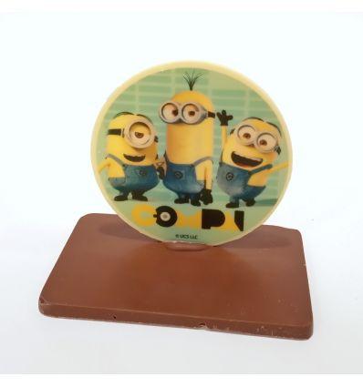 Mona Chocolate Montaje Disco Minions 180 g.
