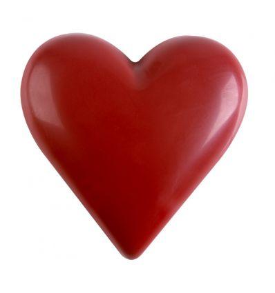 Corazón gigante de chocolate