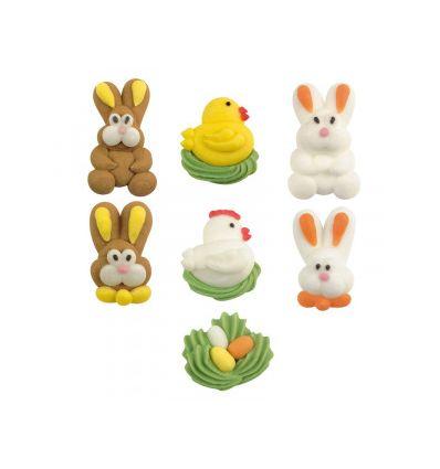 Set 7 mini figuras azúcar Pascua