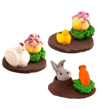 Decoración azúcar Pascua 3D dos figuras