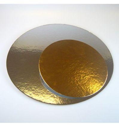 Set 3 discos dorado/plateado 20 cm.