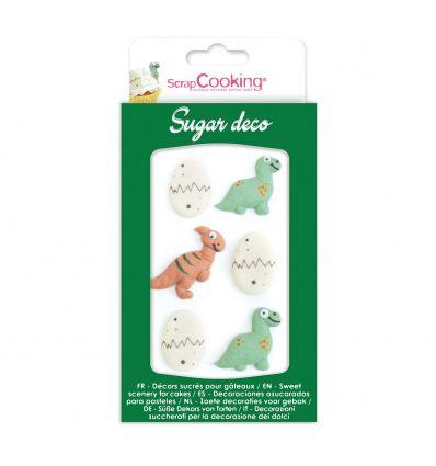 Decoración de azúcar Dinos y huevitos