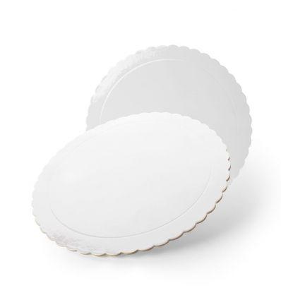 Base redonda blanca con ondas 30 cm