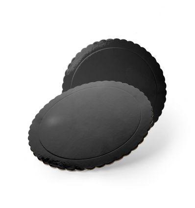 Base redonda ondas negra 25 cm