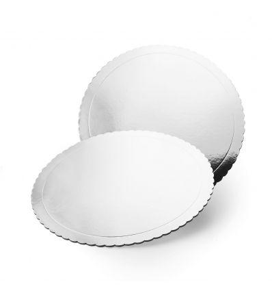 Base redonda efecto espejo con ondas 35 cm-3mm