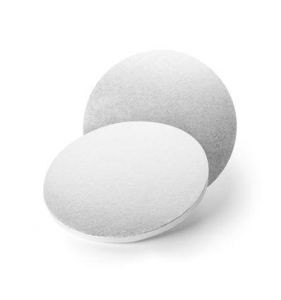 Base redonda/Cake Drum redondo plata 35 cm-12 mm