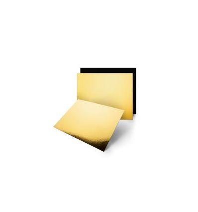 Base cuadrada dorado/negro 20 cm - 3 mm