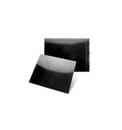Base rectangular negra con ondas 30x25 SweetKolor