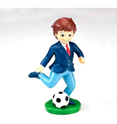 Figura niño comunión futbolista