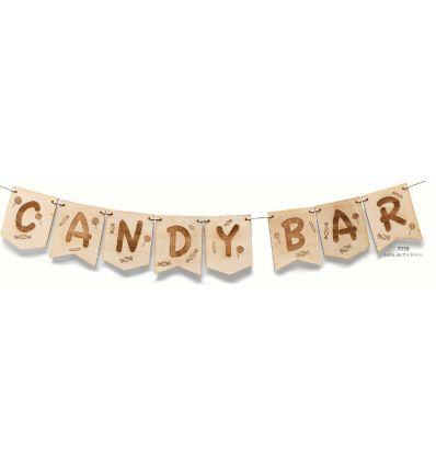 Guirnalda de madera Candy Bar