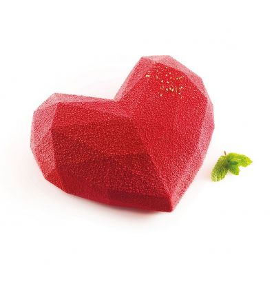 Molde Silikomart Origami Corazón Geométrico