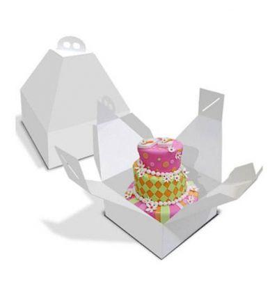 Caja para tarta con asa y altura especial 28 cm