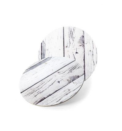 Base redonda madera clara 30 cm.