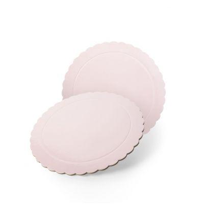 Base redonda Ondas rosa bebé 20 cm.