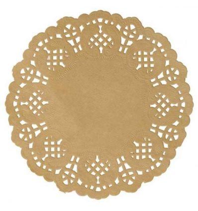 Pack 6 blondas doradas 12 cm