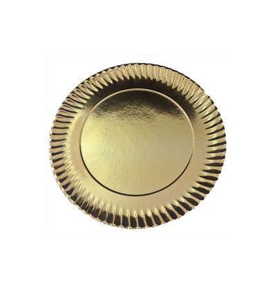 Plato dorado girasol 24 cm