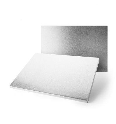 Base rectangular plateada 45x30 12 mm