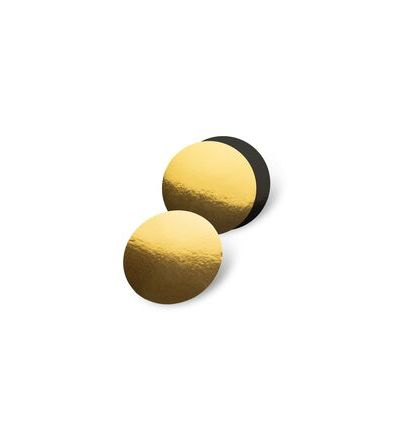 Base redonda dorado/negro 22,5 cm - 3 mm.