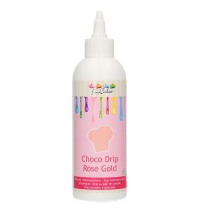 Choco Drip Rosa Dorado Funcakes