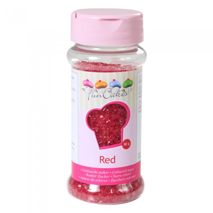 Azúcar cristalizado rojo - Funcakes