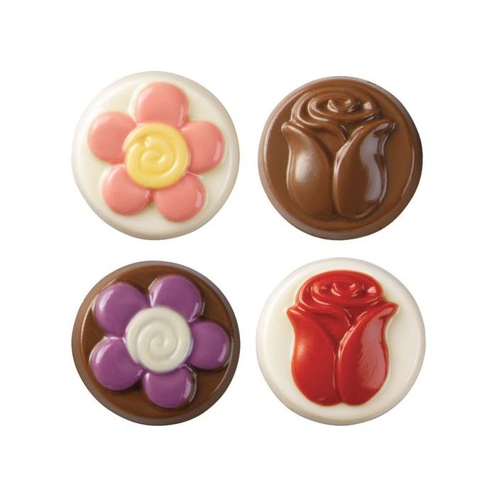 Molde para piruletas de flores de chocolate Wilton