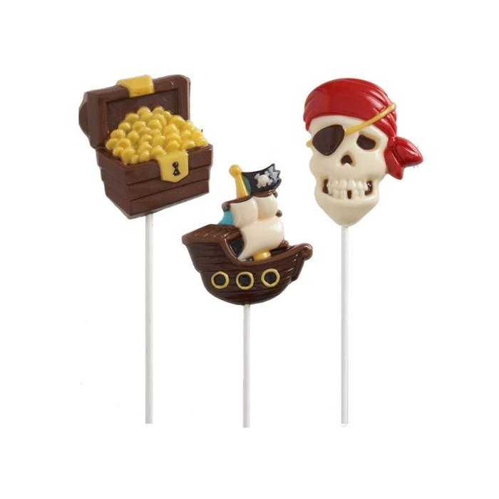 Molde para piruletas de piratas de chocolate Wilton