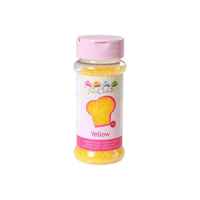 Azúcar cristalizado amarillo